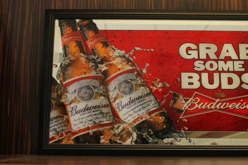 "2011 Budweiser ""Grab Some Buds"" Mirror Picture"