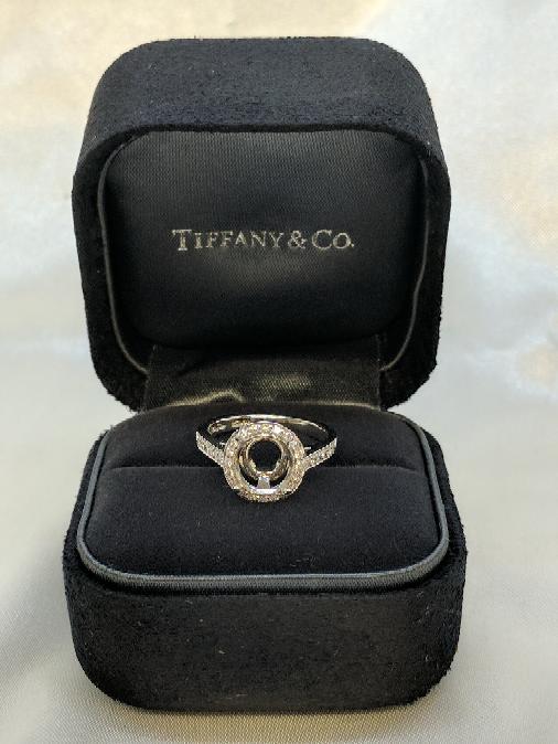 Tiffany & Co. Lady's Platinum-Diamond Engagement Ring Mounting .32 Carat T.W.