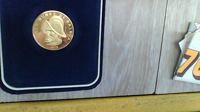 1975 VASCO NUNES COIN Gold Coin 100 BALBOAS
