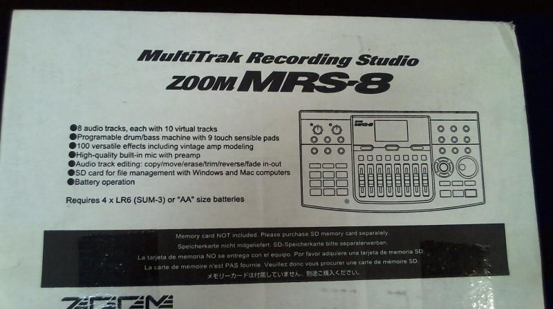 ZOOM Multi-Track Recorder MRS8