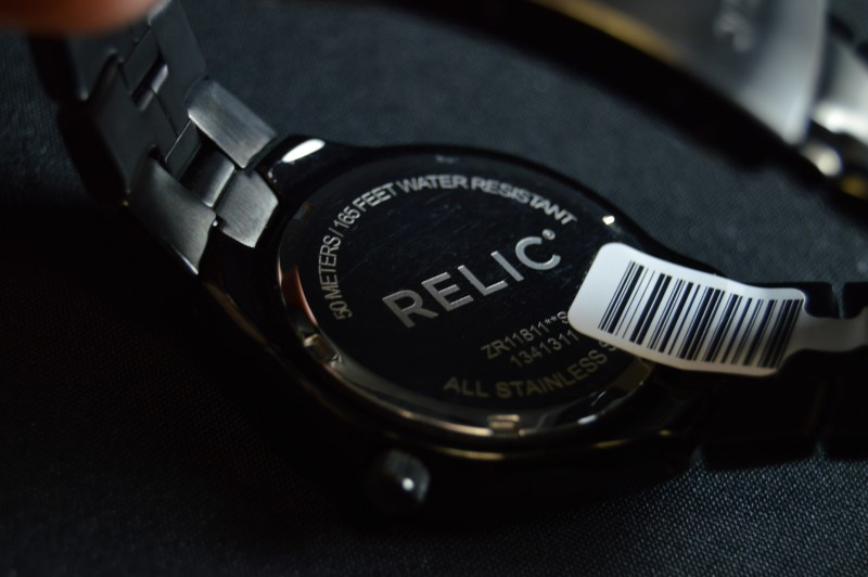 Fossil Relic ZR11811 Gunmetal Stainless Steel Watch