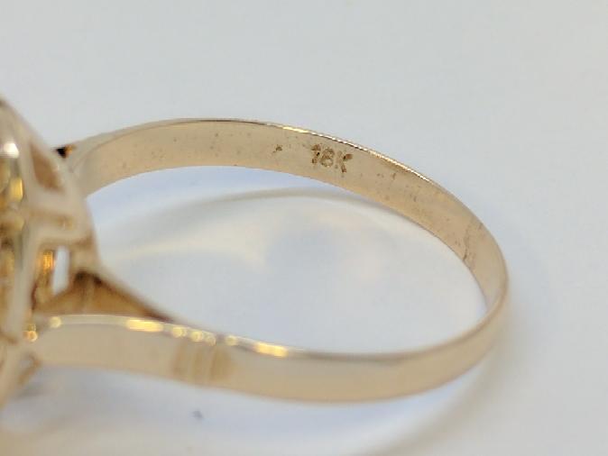 Lady's Gold Ring Mount 18K Rose Gold 1.8g Size:7