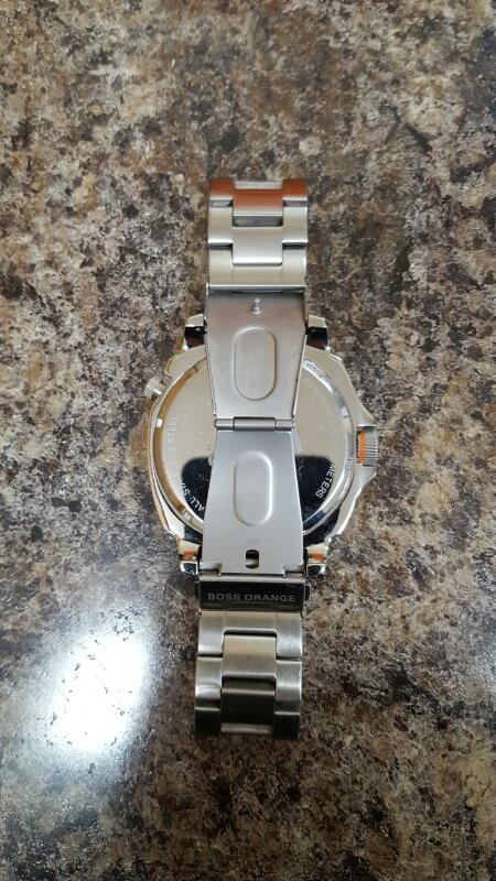 Hugo Boss Orange by Movado Watch Unique Stainless Dual Time - 1513211