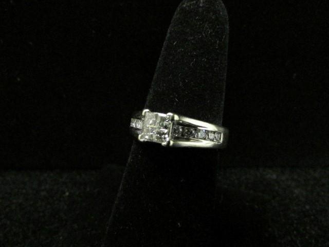 Lady's Diamond Wedding Band 15 Diamonds 1.19 Carat T.W. 14K White Gold 6.1g