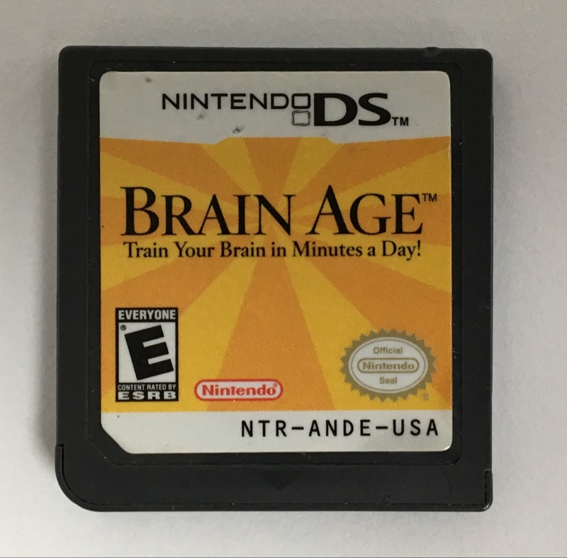 NINTENDO DS BRAIN AGE GAME