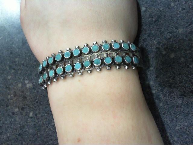 Silver 925 & Turquiose Bracelet 24.3g