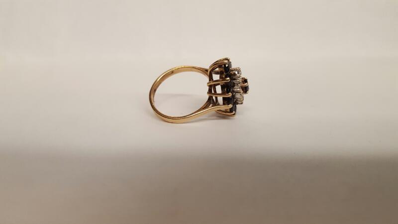Blue Stone Lady's Stone Ring 10K Yellow Gold 4.03g Size:6