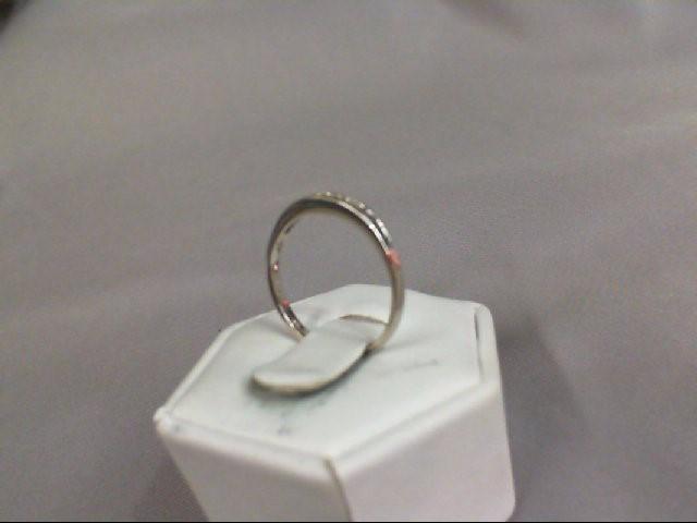 Lady's Diamond Wedding Band 14 Diamonds .14 Carat T.W. 10K White Gold 1.35g