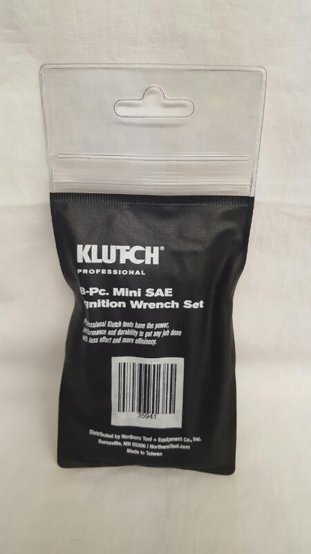 KLUTCH 35941 8PC MINI SAE IGNITION WRENCH SET
