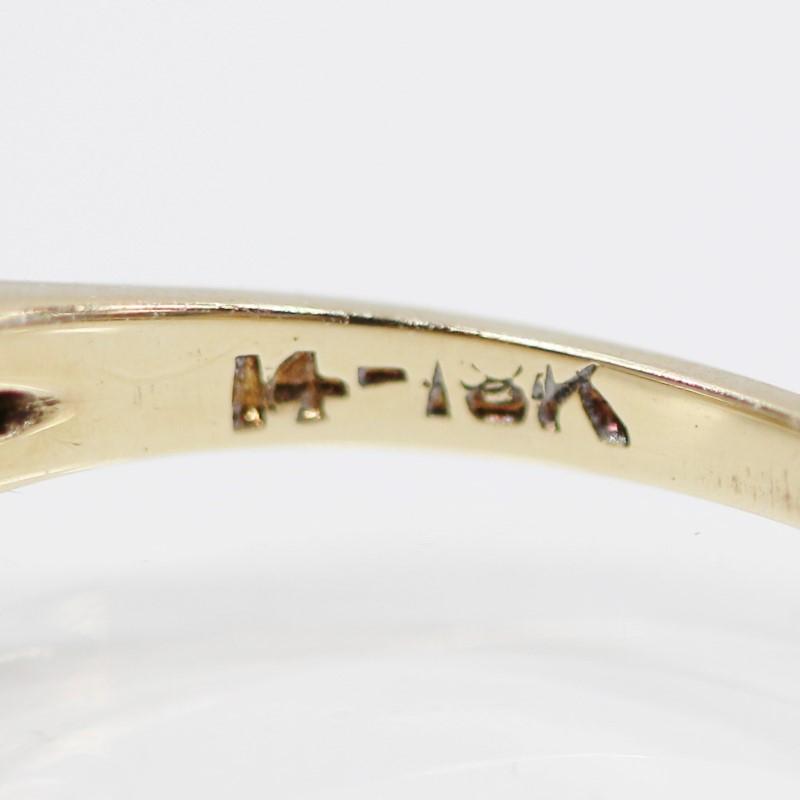 14K Vintage Inspinred Three Stone Round Diamond Engagement Ring Size 5