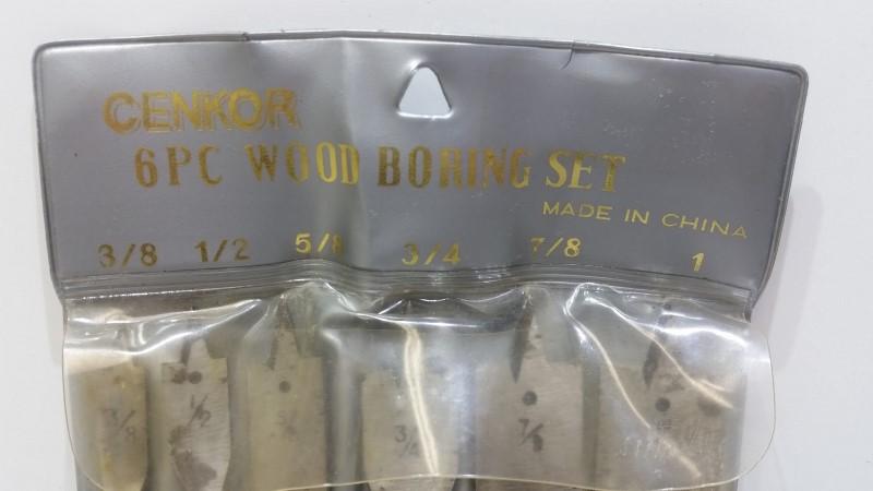 CENKOR Drill Bits/Blades 6PC WOOD BORING SET