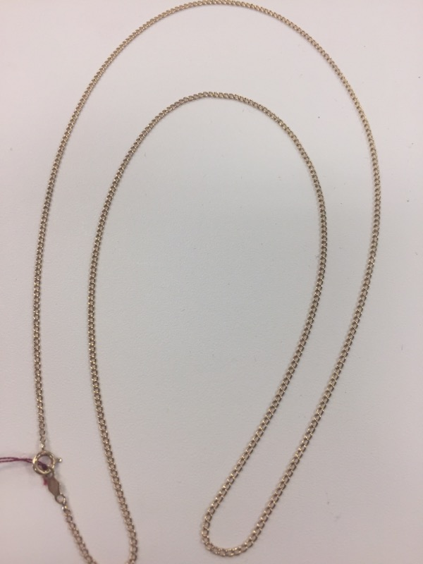 "22"" Gold Curb Chain 10K Yellow Gold 1.9g"
