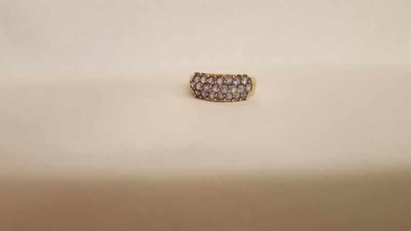 Purple Stone Lady's Stone Ring 10K Yellow Gold 2.58g Size:8