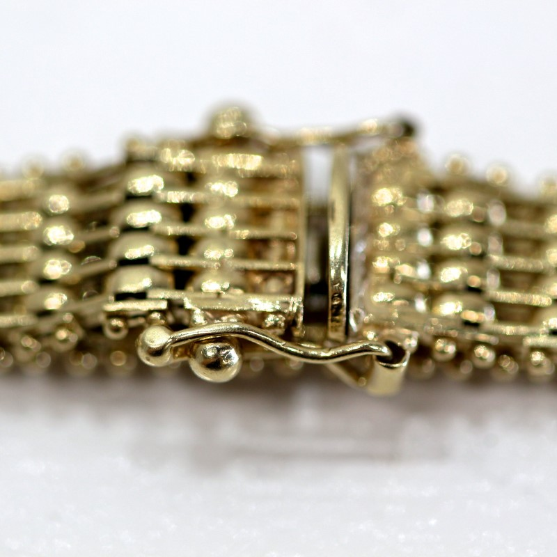 "8"" 14K Yellow Gold Byzantine Bracelet"