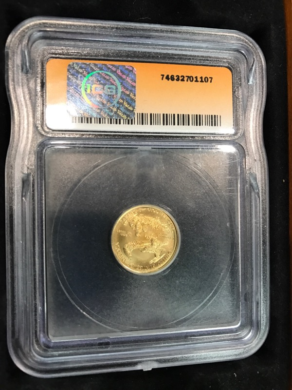 UNITED STATES Gold Coin 2015 $5 GOLD EAGLE - 1/10