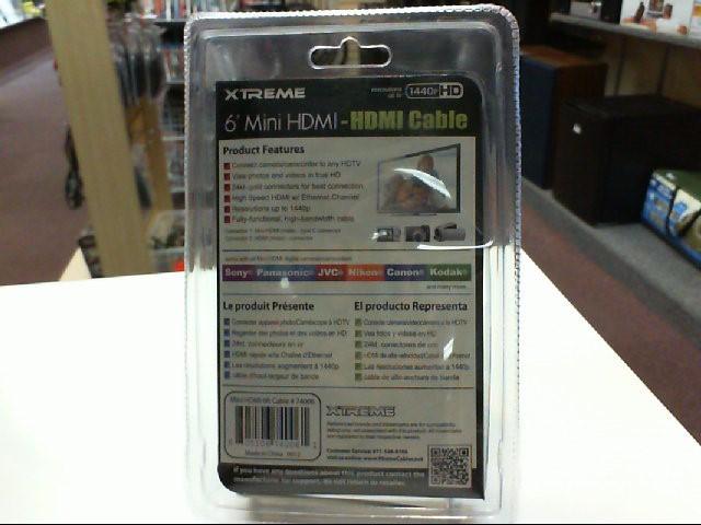Xtreme 74006 6' Mini HDMI - HDMI Cable *New*