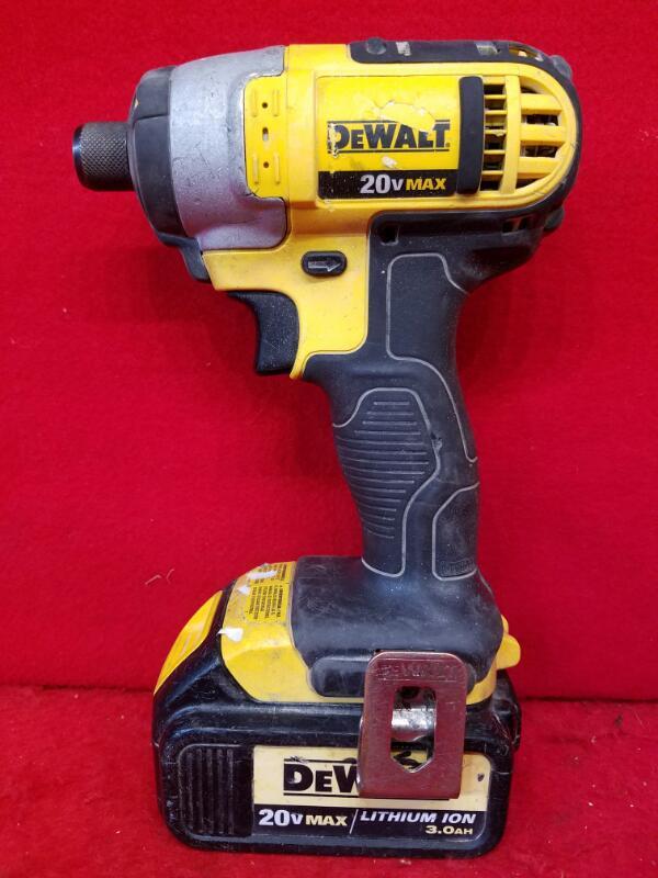 "Dewalt 20V Max Lithium Ion Cordless Drill 1/4"" Impact Driver Model # DCF885"