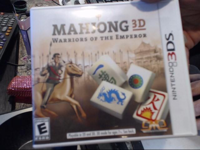 NINTENDO Nintendo 3DS Game 3DS MAHJONG 3D WARRIORS OF THE EMPEROR