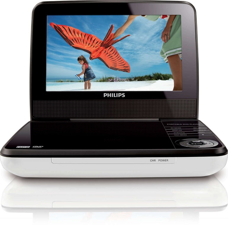 PHILIPS Portable DVD Player PET741W/17