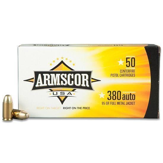 ARMSCOR 380ACP 95GR FMJ 50RD/BOX