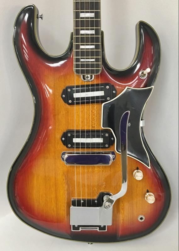Vintage Teisco Del Rey Dg 67 6 String Sunburst Electric Guitar Japan