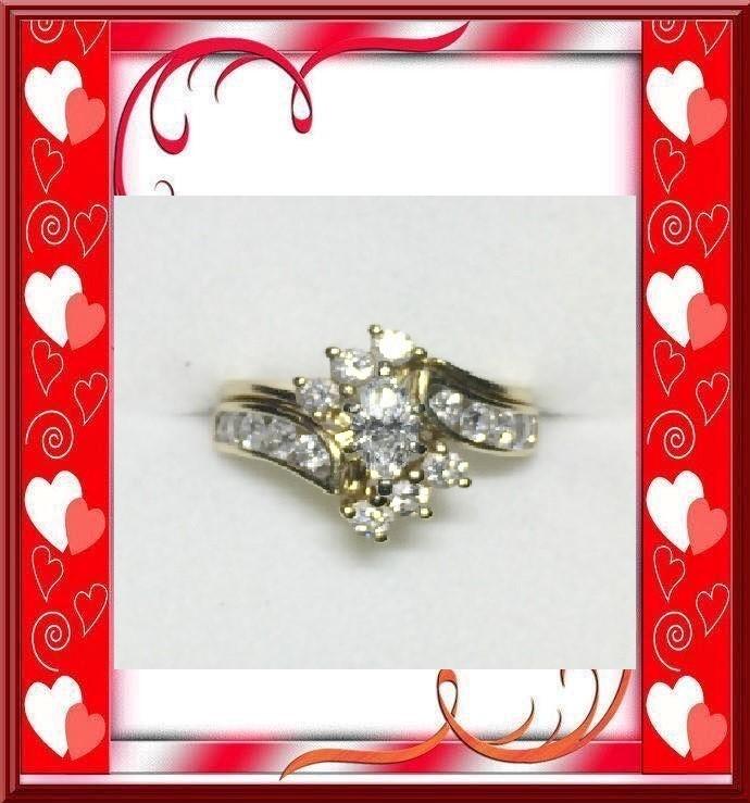 Lady's Diamond Wedding Set 17 Diamonds 1.46 Carat T.W. 14K Yellow Gold 5.31dwt