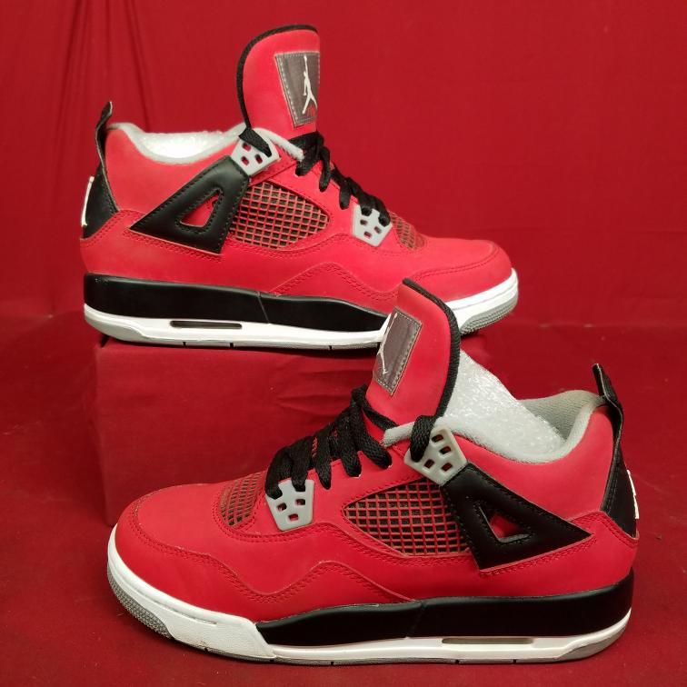 5330b0182026d2 Nike Air Jordan 4 Retro Toro Size 5.5Y Grade School Youth Bull Red 408452-