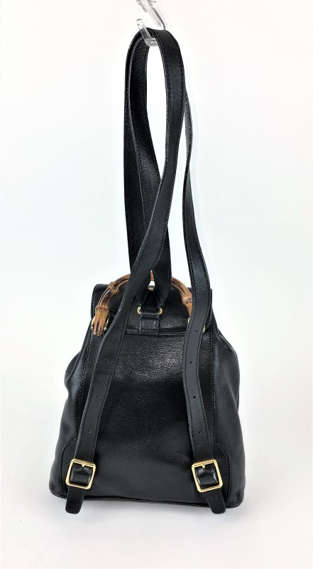 a79ccc290b ... GUCCI VINTAGE BAMBOO SMALL BACKPACK SHOULDER BAG ...
