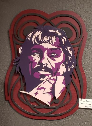 3c95fccce3ab7 Waylon Jennings Laser Cut Wood   Spray-painted Wall Art Like New ...
