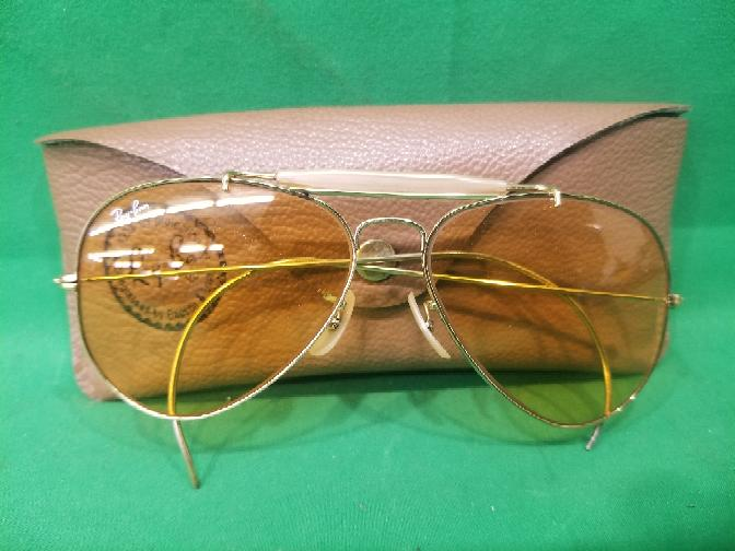 d4c8fd0c2b VINTAGE B L RAY BAN BAUSCH   LOMB GOLD PLATED DECOT SHOOTER GLASSES 58 14