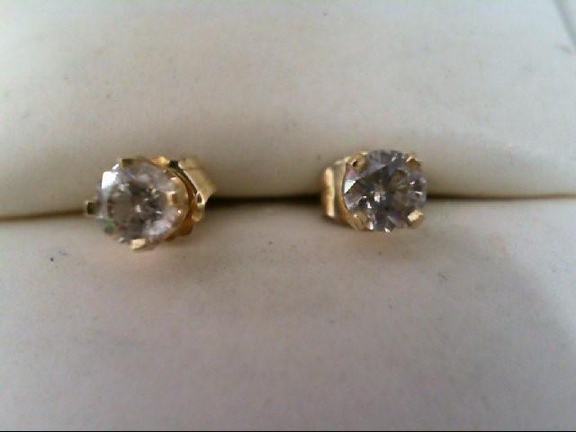 Diamond Stud Earrings 40 Carat T W 14k Yellow Gold 0 8g