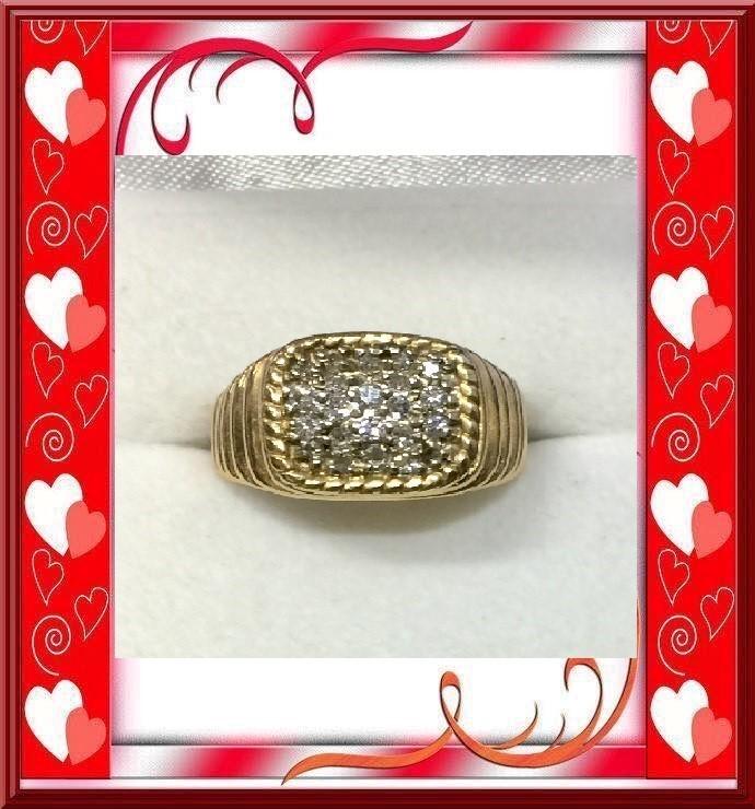 Gent's Diamond 21 Diamonds 1.05 Carat T.W. 14K Yellow Gold 6.57dwt