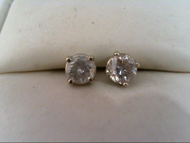 Diamond Stud Earrings 70 Carat T W 14k White Gold 0 8g