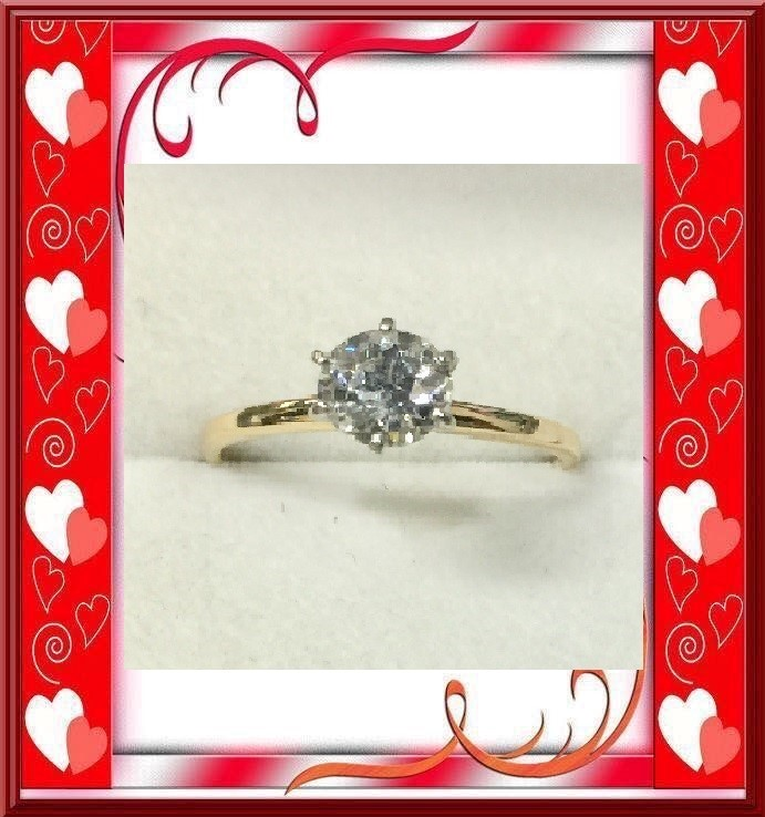Lady's Diamond Solitaire Ring 1.10 CT. 14K Yellow Gold 1.67dwt