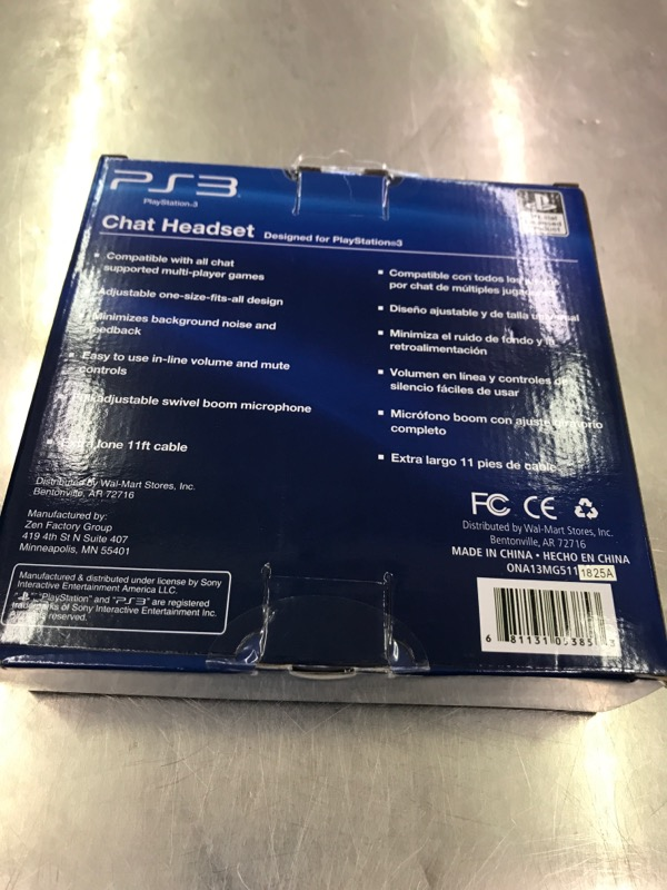 Video Game Accessory PS3 CHAT HEADSET Like New | First State