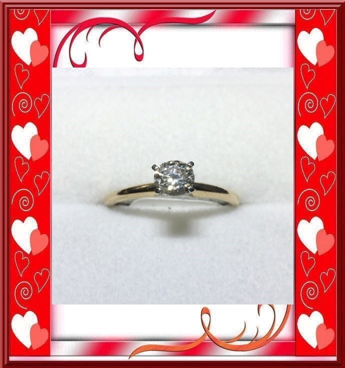 Lady's Diamond Engagement .30 CT. 14K Yellow Gold 1.26dwt