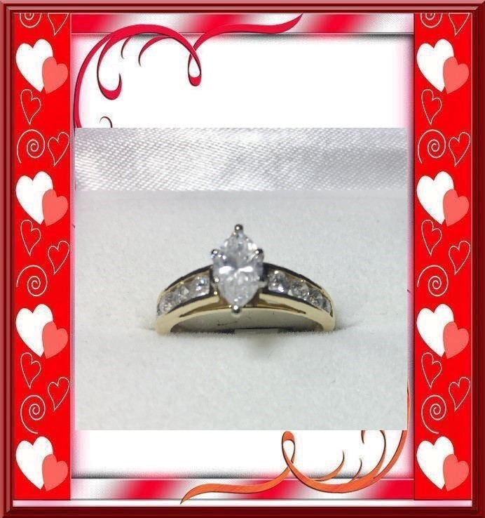 Lady's Diamond Engagement Ring 1.55 Carat T.W. 14K Yellow Gold