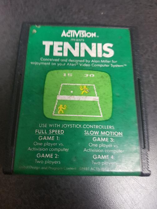 ATARI 2600 Vintage Game TENNIS Good | TSR Digital Ltd  | Fredericton