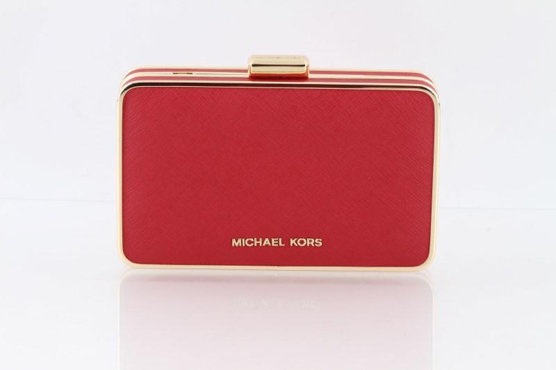 a8d84696492c89 MICHAEL KORS Handbag ELSIE BOX CLUTCH HANDBAG RED 30H4GBXC1L Like ...