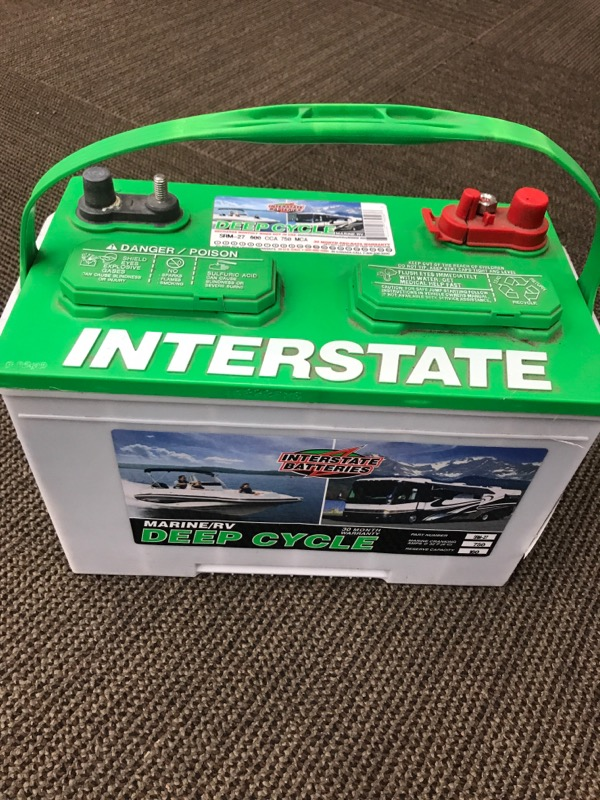 Interstate Deep Cycle Marine Battery >> Interstate Battery Srm 27 Deep Cycle Marine Battery Very Good