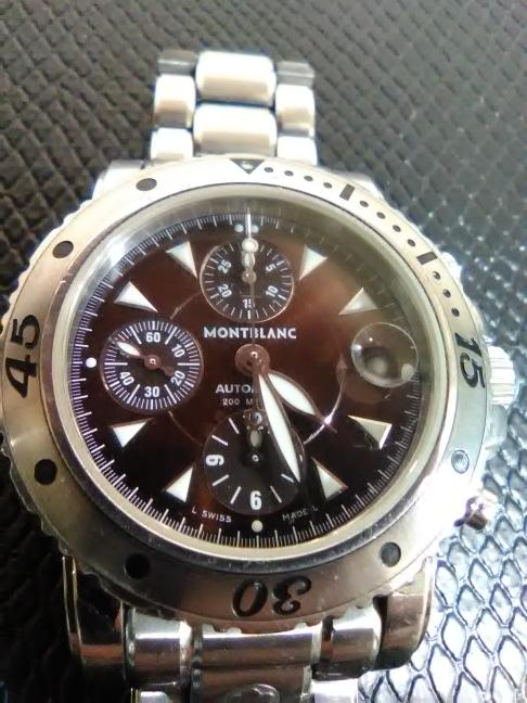 582b688d2a688 MONT BLANC Gent's Wristwatch 7034 SPORT CHRONOGRAPH Like New | Buya