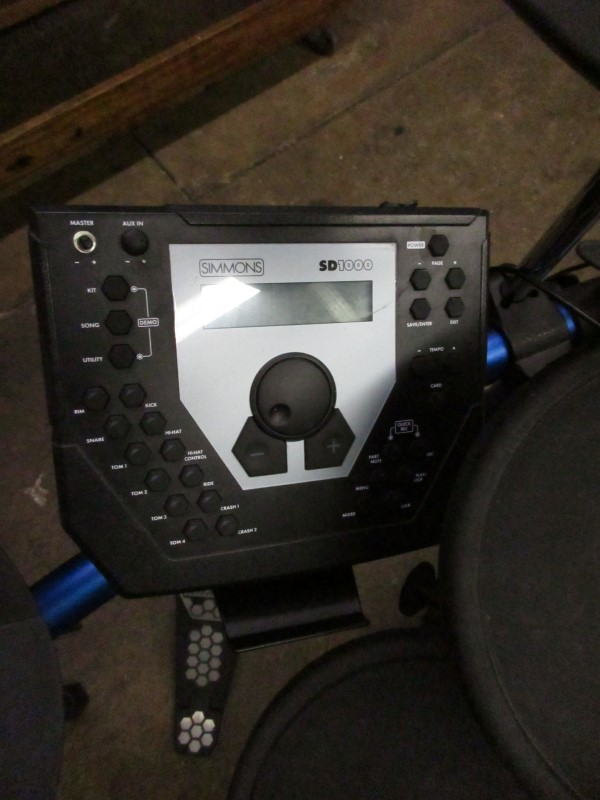 Simmons Sd 1000 Electronic Drum Set Mcbride Music Pawn Denton Tx
