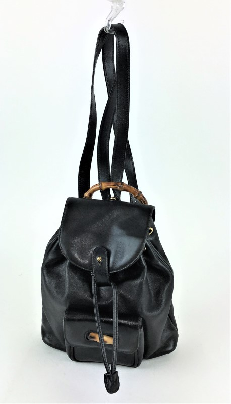 c283e3745e6a GUCCI VINTAGE BAMBOO SMALL BACKPACK SHOULDER BAG Good