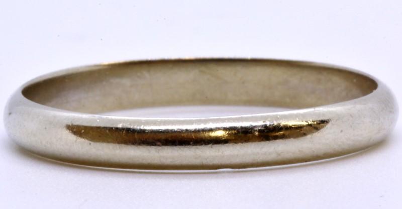 Keepsake 14K Solid White Gold Men's 3mm Plain Polished