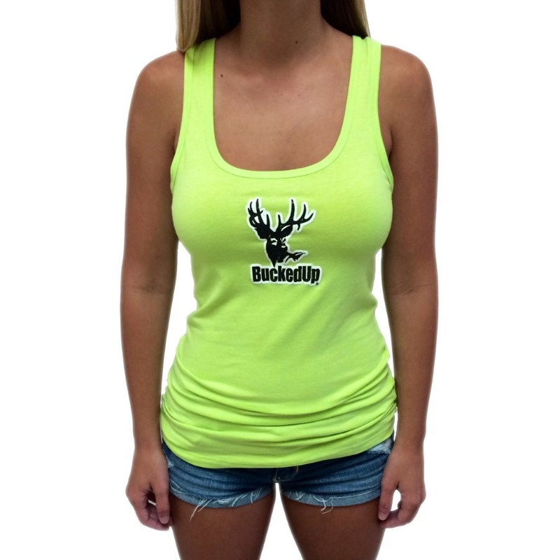 bucked up 311946 small distressed logo lime white buya