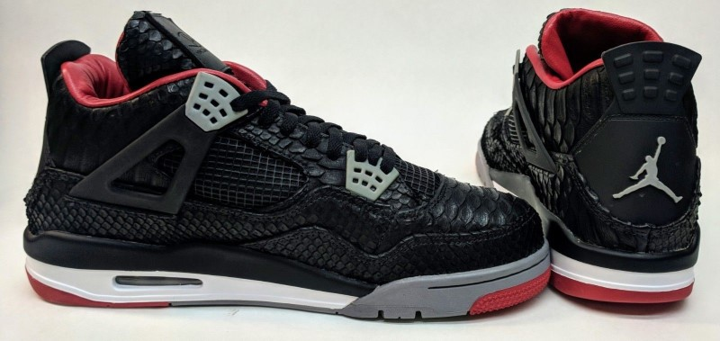 new product 10eec a7182 ... Size 14 JBF Customs Air Jordan IV Genuine Python Shoes  RARE    COLLECTOR  ...