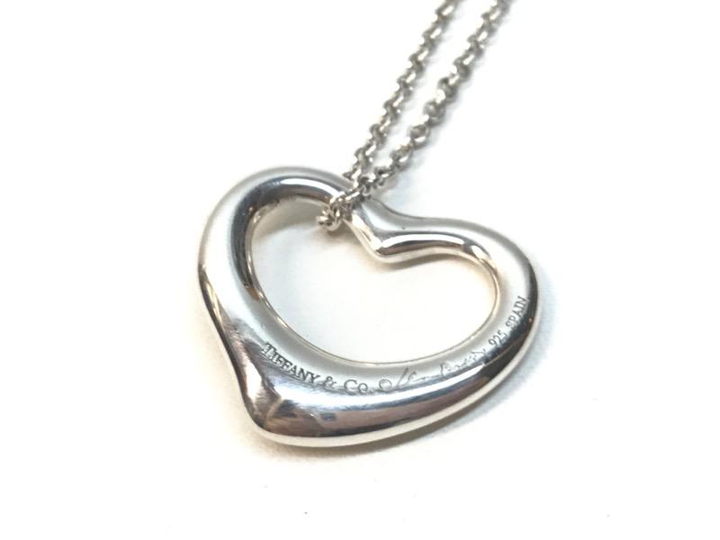 d97fab104 ... TIFFANY & CO Fashion Accessory ELSA PERETTI OPEN HEART PENDANT NECKLACE  ...