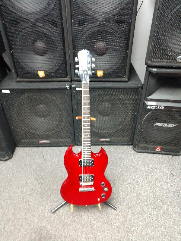 epiphone electric guitar sg for parts or not working river city pawnbrokers evansville in. Black Bedroom Furniture Sets. Home Design Ideas