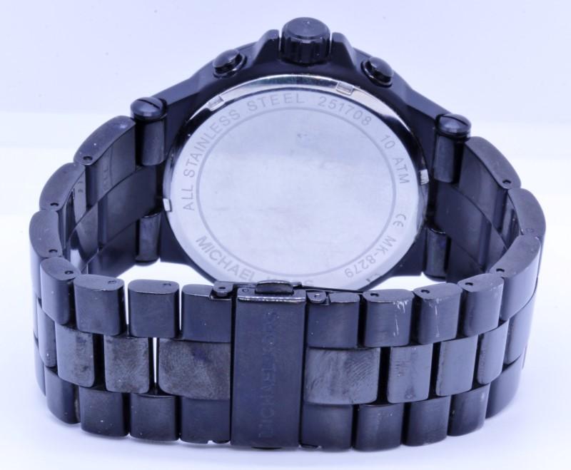 d11f7f48e2c7 ... Michael Kors MK-8279 Dylan Black on Black Steel Mens 45mm Chronograph  Date Watch ...