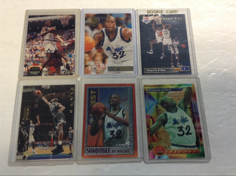 Shaquille Oneal Nba Basketball Cards Draft Pick Rookie